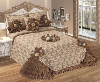 guliz bedspread set coffee buy embroidery bedspread turkish bedspread fancy bedspread. Black Bedroom Furniture Sets. Home Design Ideas