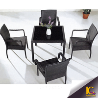 Cast aluminum outdoor patio dining set cheap price dining table and chairs