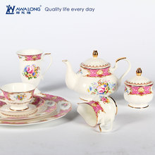 royal style luxury grace designs ceramic dinnerware household disposable tableware