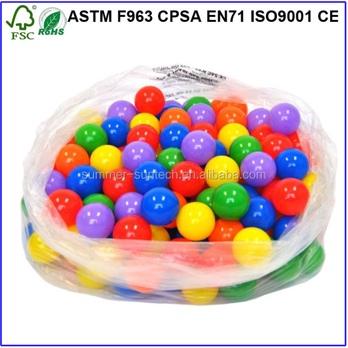 Colorful Fun Plastic Soft Balls Swim Toys Ocean Ball Pit for Play Tents Playhouses Kiddie Pools