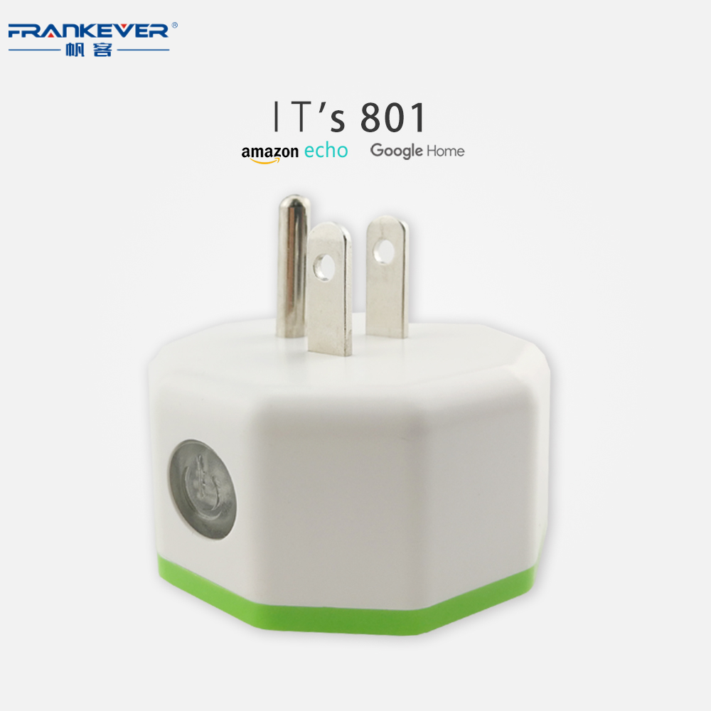 Frankever CE FCC ROHS new small size US standard smart plug wifi