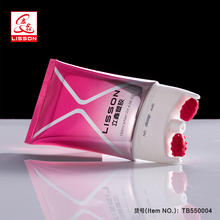 High-ending Laminated Cosmetic Double Roller Massage Packaging Flat Oval Tube For Slimming Full Body Lotion