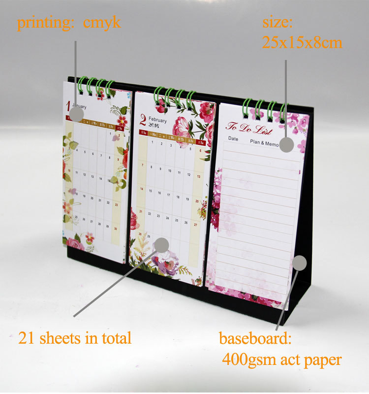 Calendar Binding Ideas : Flip desk calendar new design spiral binding