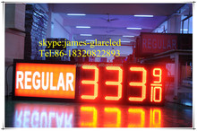 Outdoor led gas price charge display 8.889/88.88/8.889/10 red/green/blue/white/yellow