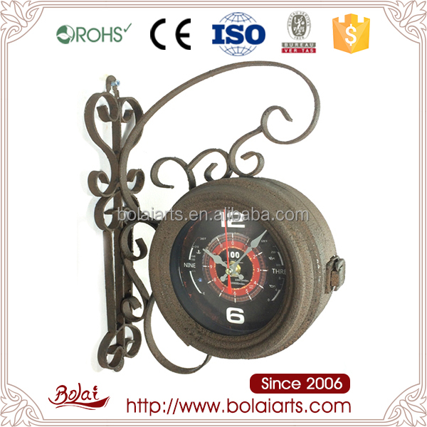 Decorative wire material multifunction hour calculation big wall clock for restaurant
