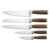 Hot selling best quality best price 5pcs stainless steel kitchen knife set with pakka wood handle
