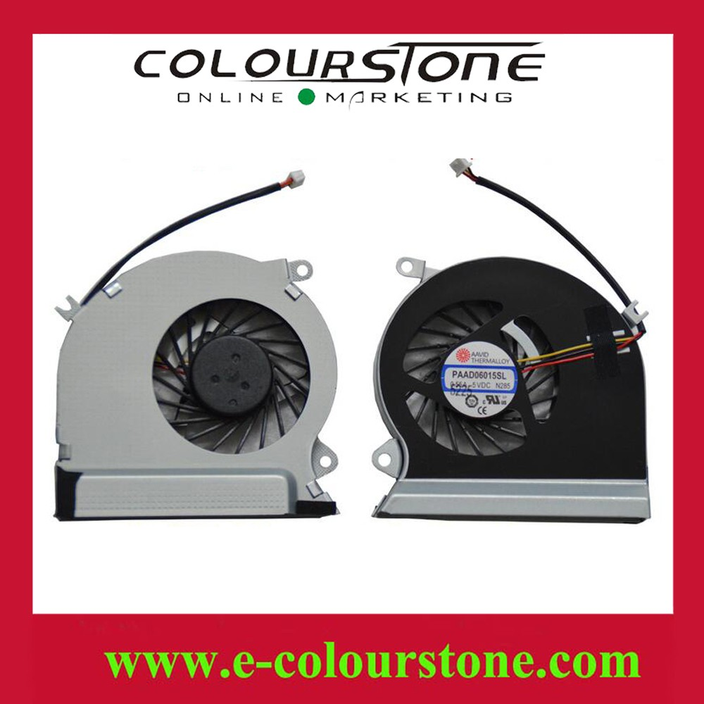 Hot selling laptop cooling fan laptop CPU fan for MSI GE70 3 PIN DC5V 0.55A PAAD06015SL