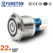 Cheap 22mm illuminated IP65 IP67 waterproof switch 3V 5V 6V 12V 24V 220V led pushbutton switch