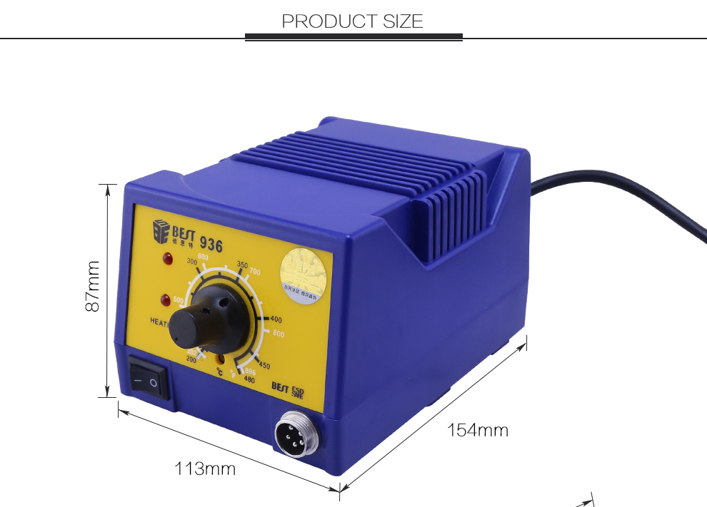 BST-936 Lead-free Soldering Station with Soldering Iron Ball