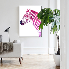coustomized zebra sample picture of wall artwork canvas painting