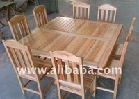 Largo 8 seater square Saligna table and chairs
