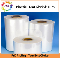 PET Shrink wrap film sleeve on roll for bottle packaging