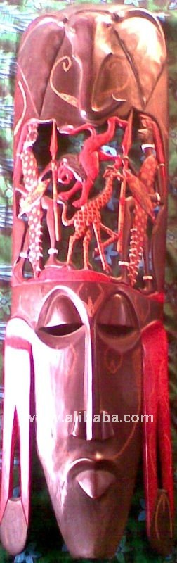 African Tribal Mask Of Masai From Kenya