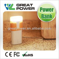 5000mAh univeral led torch power bank for all brands mobile phone