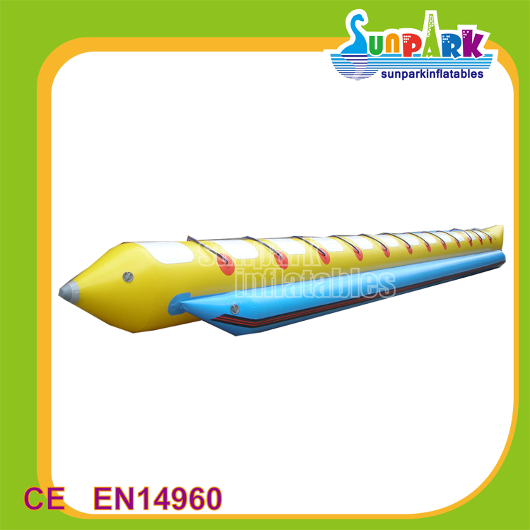 Commercial Inflatable Sea Toys Flying Banana Boat, High Quality Float Single Tube Banana Boat