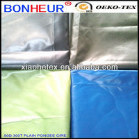 100% polyester pongee fabric waterproof fabric