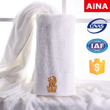 16s spiral yarn luxiry 5-star hotel bath wrap towel with platinum embroidered LOGOl