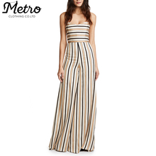 Wholesale Striped sleeveless Ladies Sexy Jumpsuit