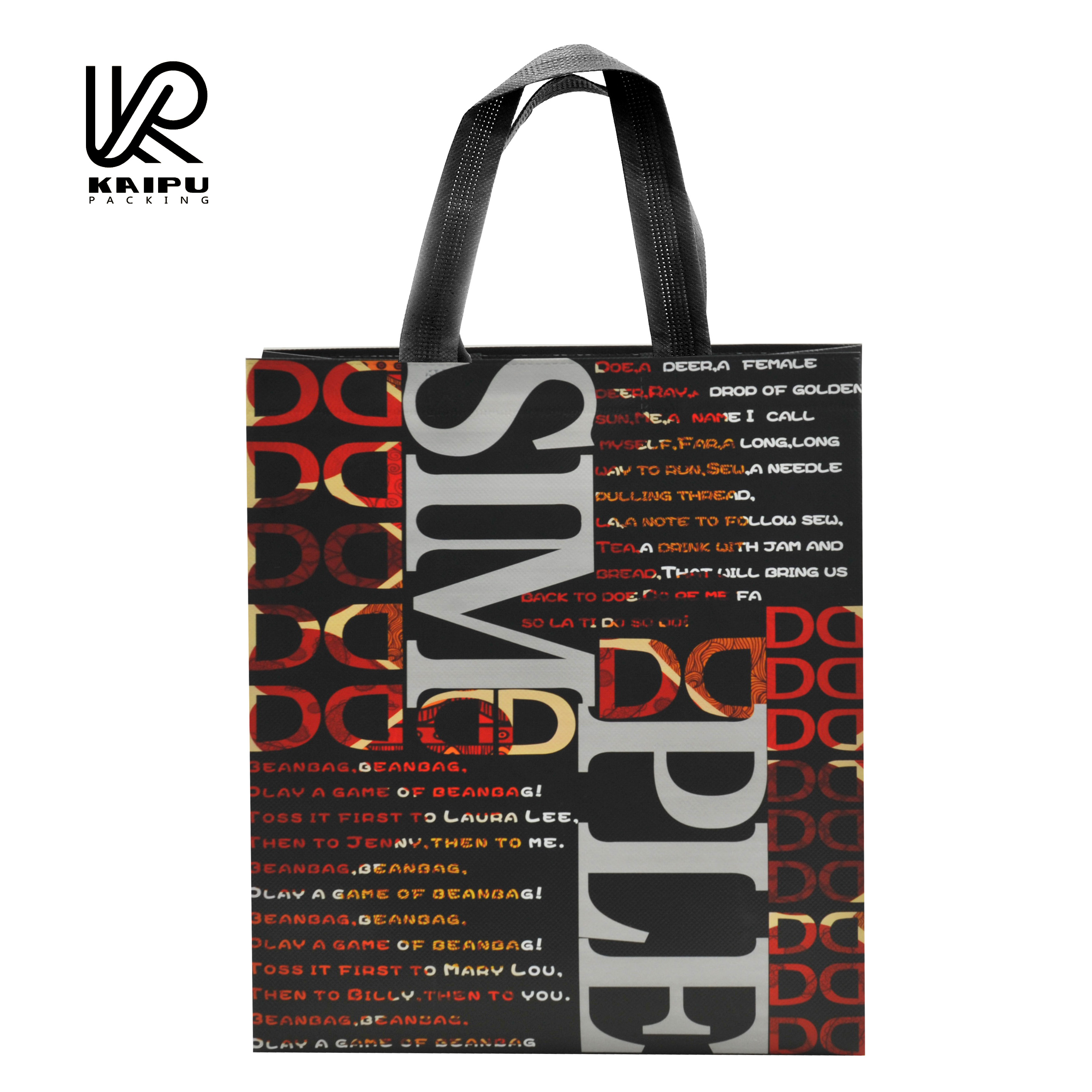New design laminated gift bags for shopping made in China