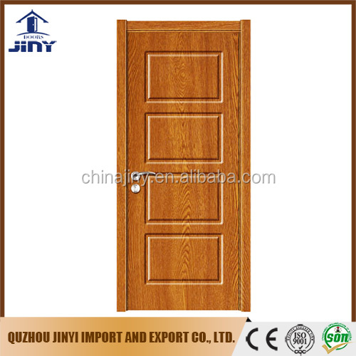 2017 new design sell well pvc sheet living room mdf wood door from Jiangshan city