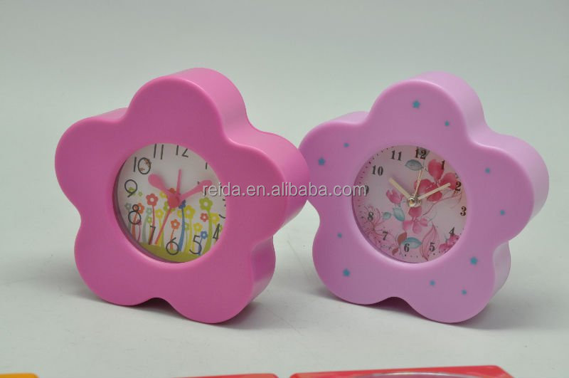 Colorful Promotion Gifts cheap Plastic Fruit Shaped Table Alarm Clock