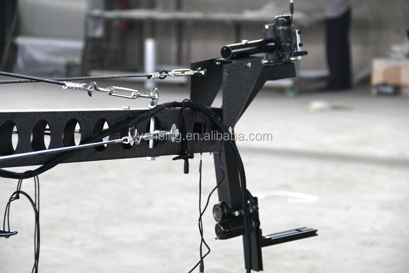 Professional 8m square DV jimmy jib crane film&video shooting TV camera crane