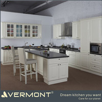 High End Cream Paint Shark Door High Gloss Kitchen Cabinets