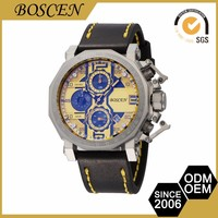 Custom Printed Good Prices Glass Mineral Rolexable Man Watch