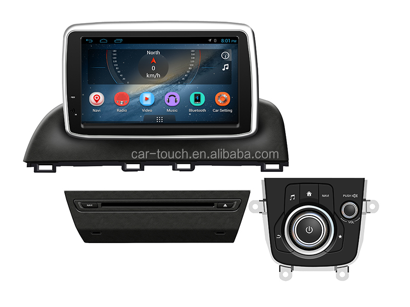 "8"" android car audio with gps navigation high resolution 1024*600 for Mazda 3 2014- 2016"
