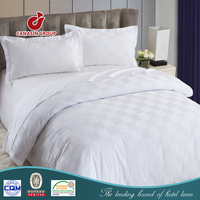 usa commercial white cotton bed linen