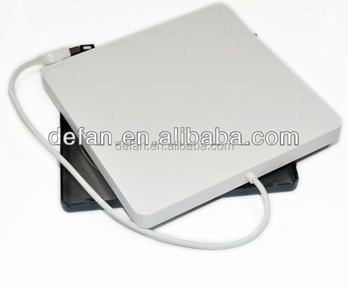 USB 2.0 Slim External external dvd burner enclosure for 9.5mm dvd drive