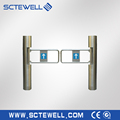 Automatic pedestrian access control system waist high 304 stainless steel swing turnstile gate