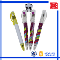 New design promotional Christmas gift panda torch ballpoint pen