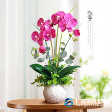 New Product Butterfly Orchid Flower Artificial Bonsai With Vase
