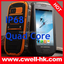 ALPS S09 IP68 Waterproof & Dustproof rugged Quad Core Android Smart Phone 4.2 NFC/PTT Dual SIM Unlocked Phone in China