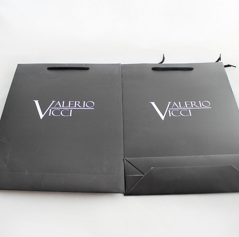 New fancy custome logo printed shopping bag ,paper bag with handle
