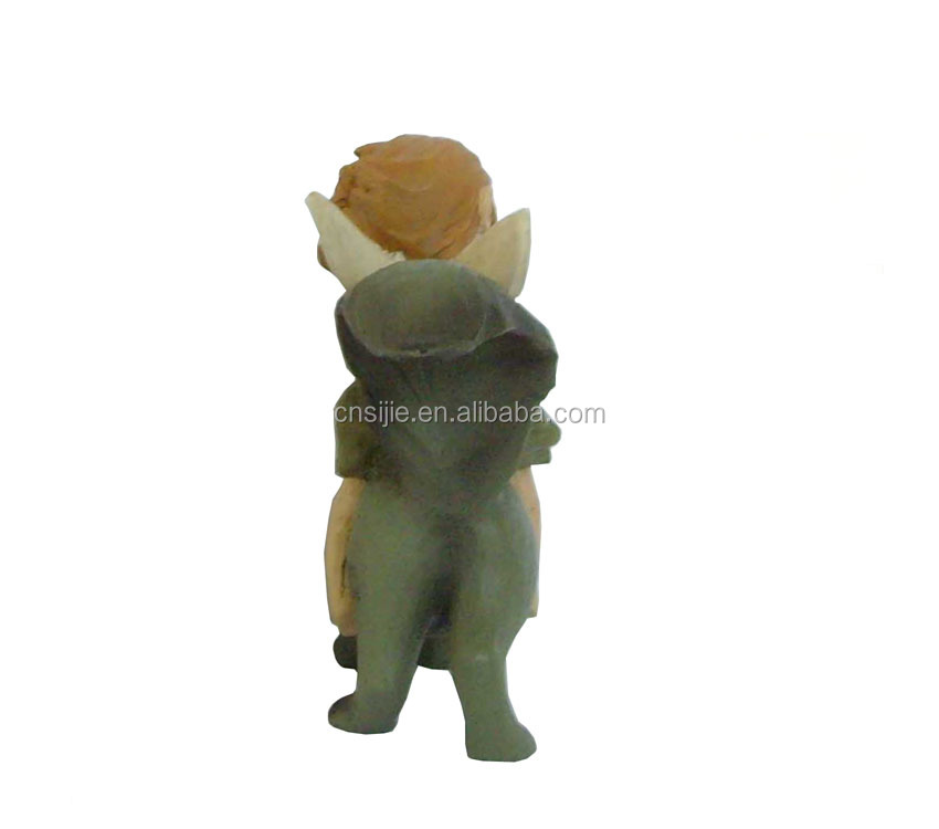 Resin fairy riding squirrel crafts squirrel home decor gift