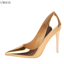 LXUNYI Newest women shoes pumps Sexy Straps women shoes Beautiful Thin high Heels Pointed Toe