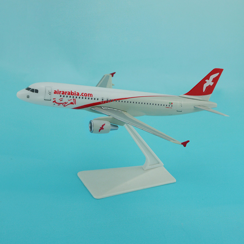 Hot sale products Air arabia a320neo aircraft model 1/200 with plastic base