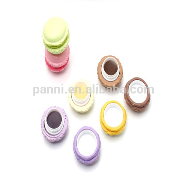 2014 Fashionable colorful lip balm cases ice cream shaped lip balm