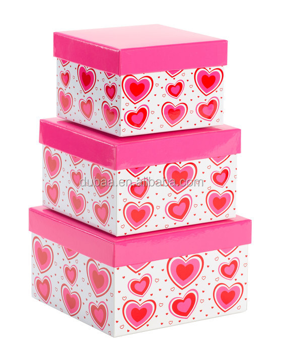 Gift Box - Nested Boxset Flirty Heart- www.DubaaFashion.com