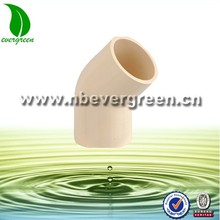 PVC pipe fittings 45 degree elbow