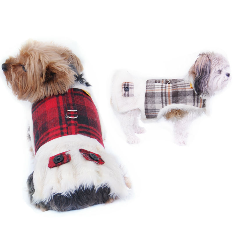 Dog Dress Style Winter harness with Full Fleece lining & Matching Leash