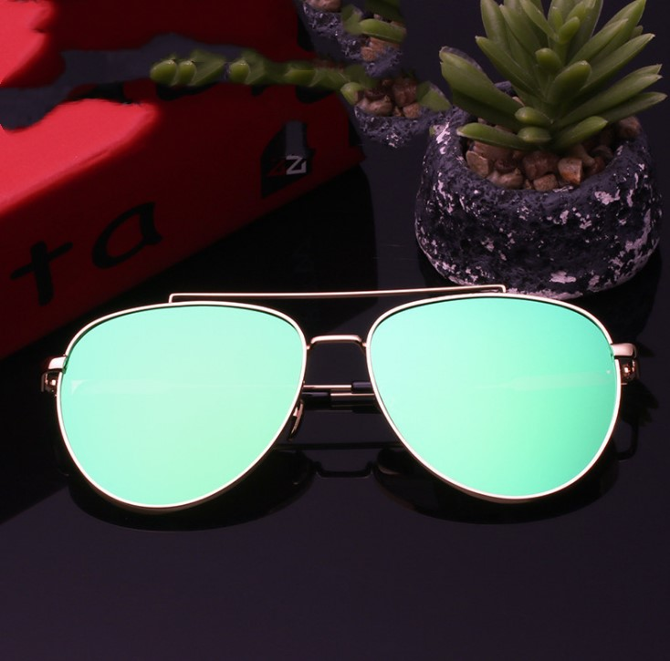 HJ China Manufacturer Promotion Free Sample Custom Logo Fashion Vintage Men Women UV400 Polarized/PC/AC Lens Metal Sunglasses