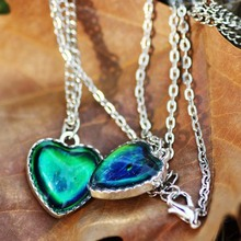 Best Friend Gift Jewelry Color Change Pendant Mood Heart Necklace