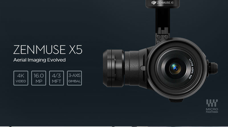 DJI Inspire 1 PRO Helicopter With Evolutionary Camera ZENMUSE X5 & 3-Axis Gimbal Camera in Stock