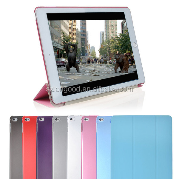 Ultra Slim Smart Cover Case For Apple iPad Air 2, Leather Kickstand Case for iPad 6th