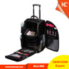 Black 1680D nylon rolling trolley professional travel cosmetic bag makeup nylon beauty case