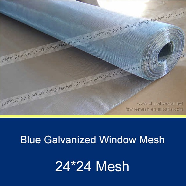 24*24 Blue Galvanized Mosquito Net