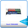 Hot Sale 16 port FXS/FXO analog Voip PCI Asterisk card